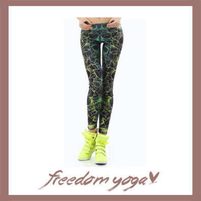 Legging Yoga pants - Fluorescence pattern