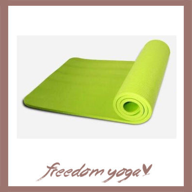 Yoga mat for Yoga beginners - Green pattern