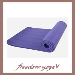 Yoga mat for Yoga beginners - Purple pattern
