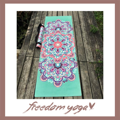 Yoga mat for Yoga Lovers - Flower pattern