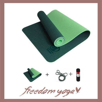 Yoga mat for Yoga pro - Green pattern - Free Storage and Strap