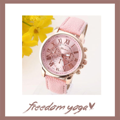 Fashion and Casual Watch - Platinum Romantic pattern