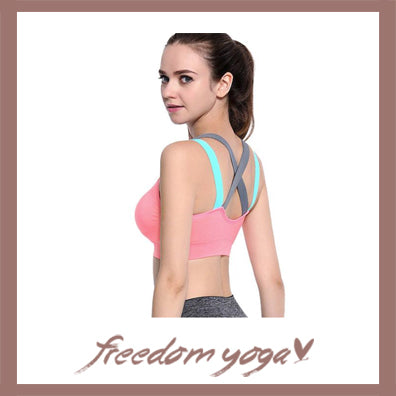 Top Yoga Bra for Yoga Lovers - Cross Strap Sports Pattern