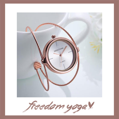 Fashion and Casual Watch - Double Ring Steel pattern