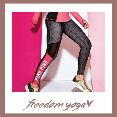 Legging Yoga pants - Pink Sport pattern