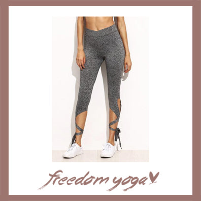 Legging Yoga pants - Crisscross pattern