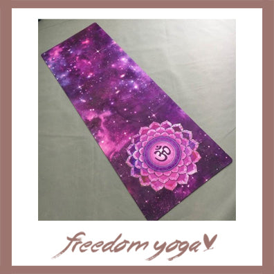 Yoga mat for Yoga Lovers - Purple Sky pattern