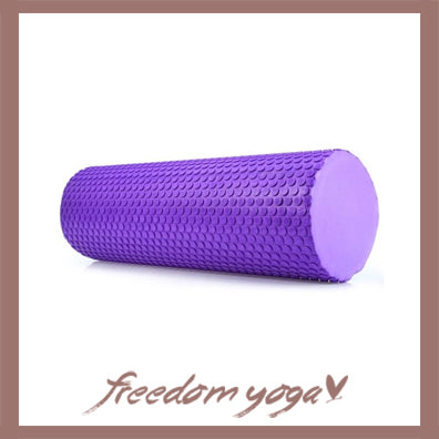 Yoga Blocks and Bricks Round for Yoga Lovers - Purple pattern