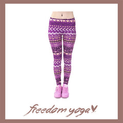 Legging Yoga pants - Aztec Purple pattern