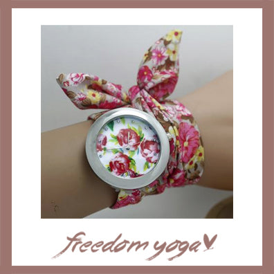 Watch design for Yoga exercisers - Floral Sweetness pattern