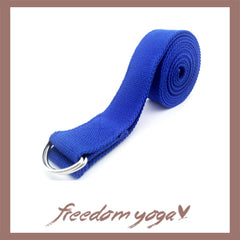 Yoga strap for Yoga poses or fitness - D-Ring Blue pattern