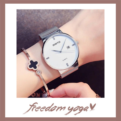 Fashion and Casual Watch for Yoga Lovers - Elegant pattern