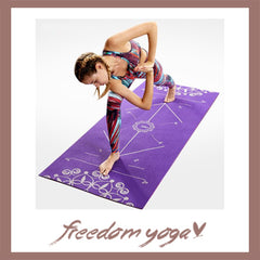 Yoga mat for Yoga exercisers - Purple and design pattern