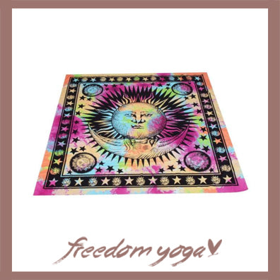 Rectangle Yoga Towel - Sun pattern
