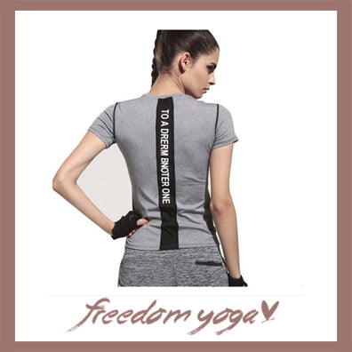 Fitness Yoga top for Yoga Lovers - Stretch short Pattern