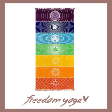 Yoga Towel - 7 Chakras pattern