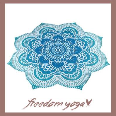 Yoga Mat Lotus Blue