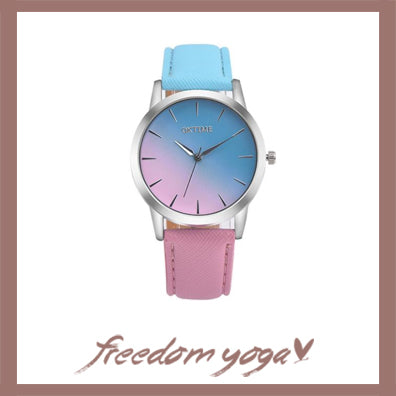 Fashion and Casual Watch in Quartz - Rainbow Design pattern