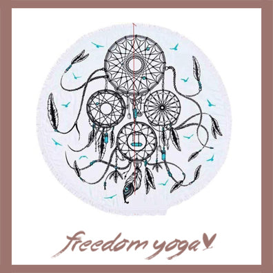 Round Yoga Towel - Dream pattern