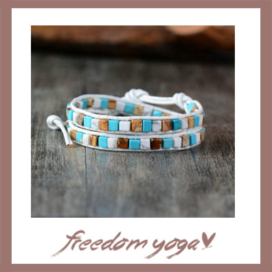 Bracelet Trendy in natural stones - Bohemian pattern