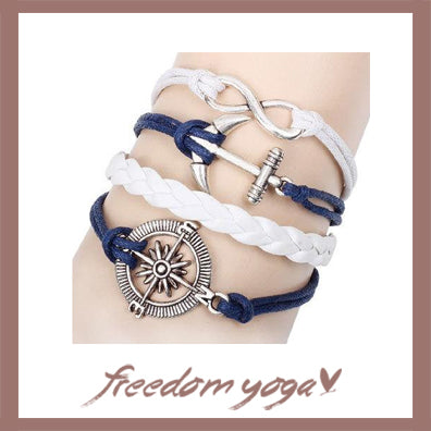 Bracelet Charm Vintage Multilayer Charm Leather