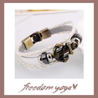 Bracelet Fashion Jewelry - Anchor Alloy Leather pattern