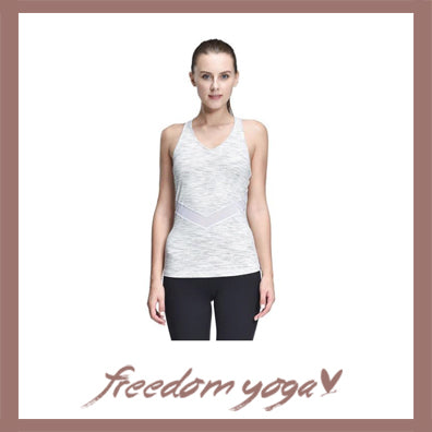 Yoga Tank Top - Mesh Yoga Vest - Grey or Pink