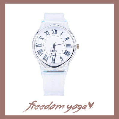 Fashion and Casual Watch - Transparent Clock pattern