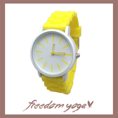 Fashion and Casual Watch in Quartz and Silicone - 8 colors