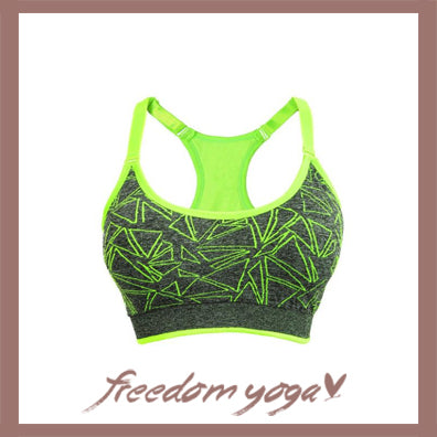 Top Yoga Bra for Yoga Lovers - Sport Fitness Fluo Pattern