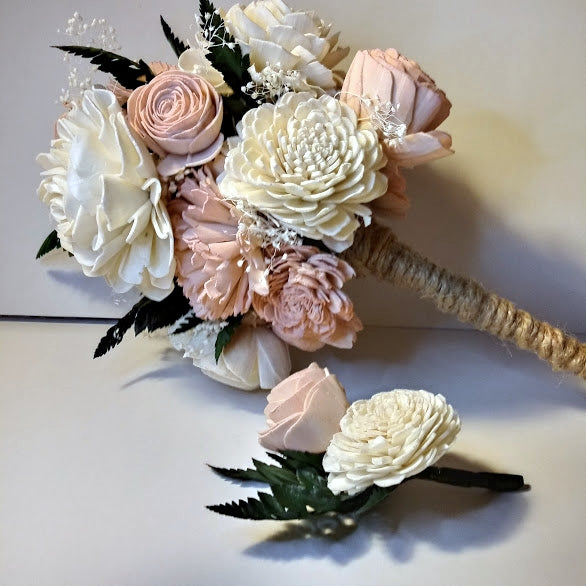 Boutonniers - Natural Wood Flowers