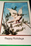 Vintage Image Christmas Cards  - Emebellished with soft iridescent glitter - Free U.S. Shipping