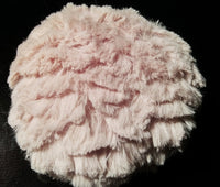 Dusty Pink Chenille Powder Puff