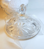 Vintage Glass Powder Dish for Dusting Powder