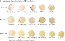 5 Sampler Set - Mineral Foundation Palest Porcelain to Lt Beige - 5 Shades in Mini Ziplocks - Free shipping