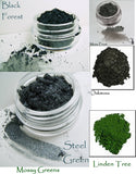 Mossy Green Shades Mineral Eye Colors - 5 shades to choose from