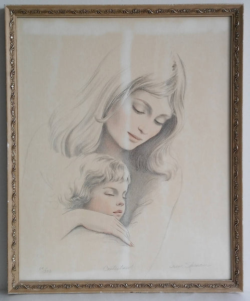 "Irene Spencer signed and numbered lithograph ""Contentment ""  64/350."