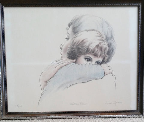 "Irene Spencer signed and numbered lithograph ""No More Tears ""  64/350."