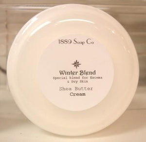 Lavender 4oz  Winterblend Shea Butter cream for dry and sensitive skin