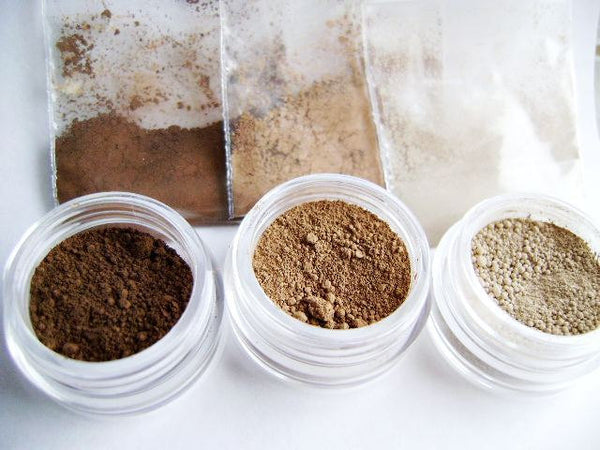 Natural Mineral  Matte Contour Color Trio - Trial Size kit Ziplocks