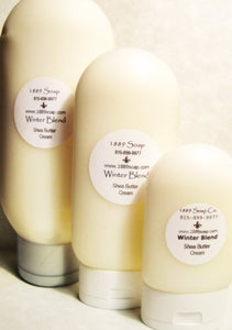Shea Butter Lotion - New BIG Refill size - 12oz squeeze bottle w/ Free Purse size Lotion - Choice of Add Ins