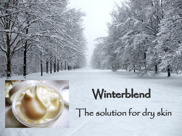 Winterblend Shea Butter Cream with Argan Oil 4oz Jar for Dry and Sensitive Skin