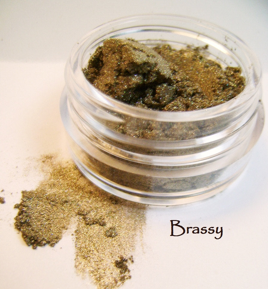 Brassy - Mineral Eye Color - 3gm Pot - Dupe for MAC Gilt