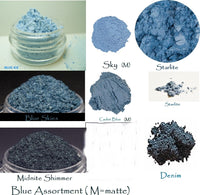 Blue is Blue Collection Mineral Eye Colors - 7 Shades to choose from - 3 sizes