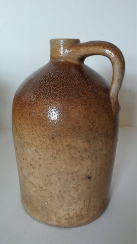 Just Reduced ! Hermann Red Clay Earthenware Saltglaze Jug - mid 1800's