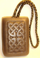 Golden Sandalwood Scent Soap On a Rope - Round Chinese Sun design natural glycerin and Shea butter soap