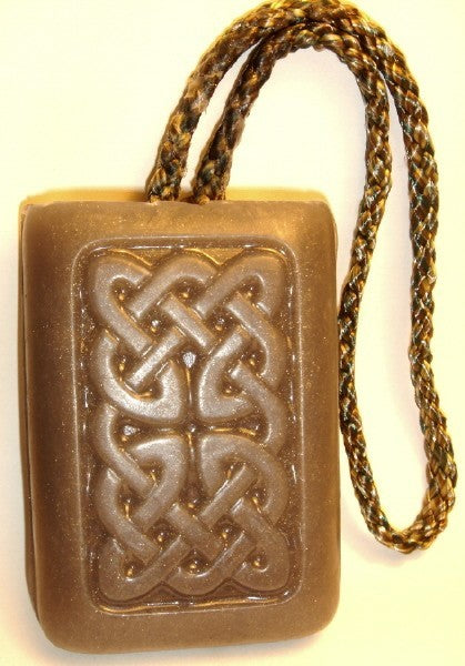 Golden Sandalwood or Patchouli Scent Soap On a Rope - Natural Shea butter & Goatmilk soap