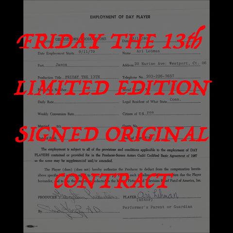 - Friday the 13th Contract LE