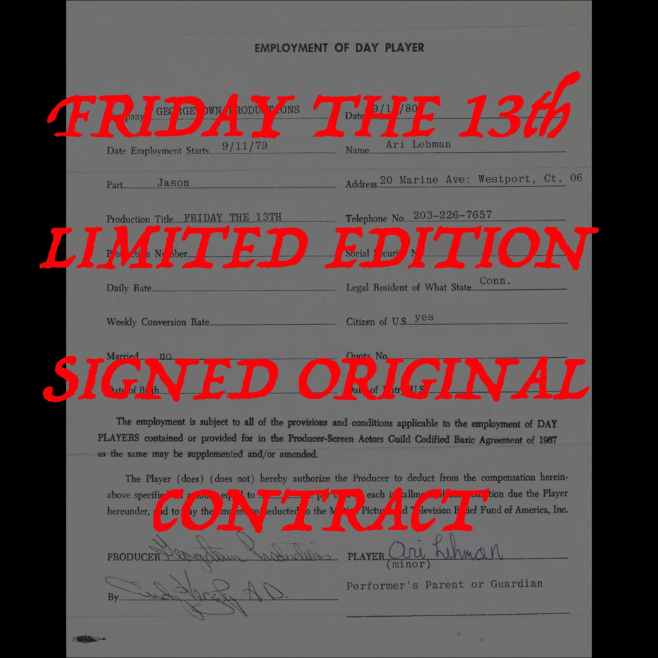 Friday the 13th Contract LE