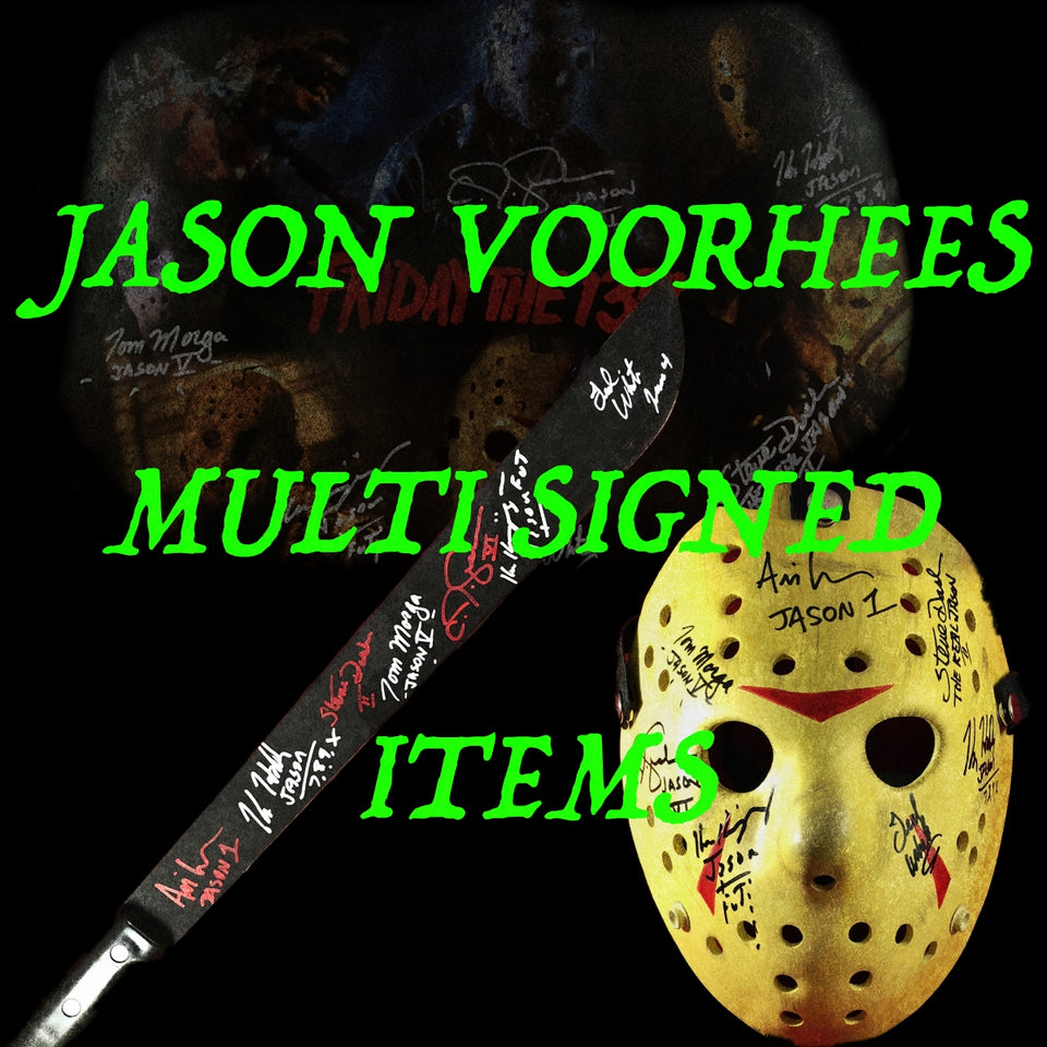 Jason Voorhees Multi Signed Items